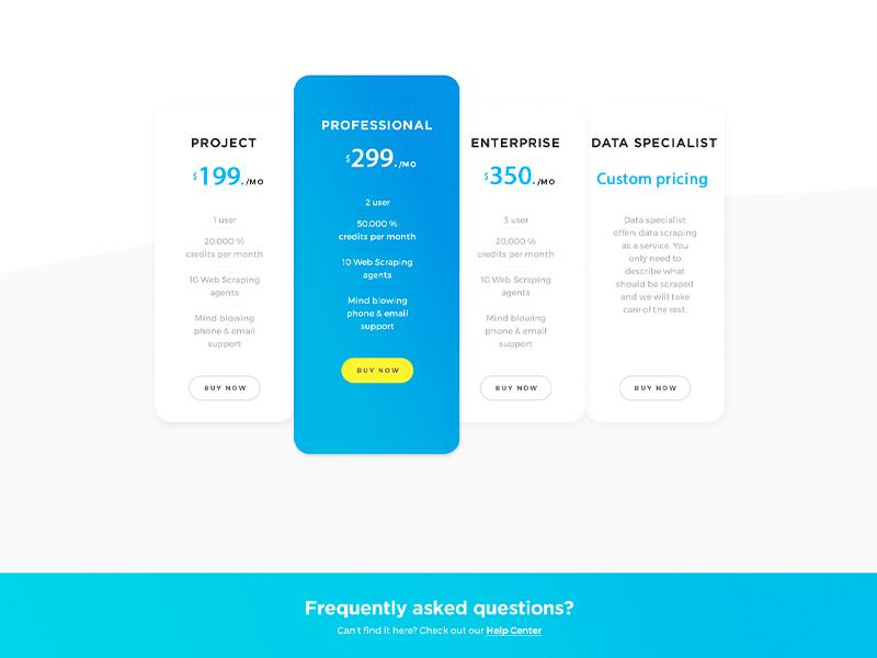 Web Scraper | Website redesign